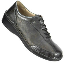 Finn Comfort Womens Oxfords Size Eur 40 US 9-9.5 Pewter Leather Lace Ups Germany