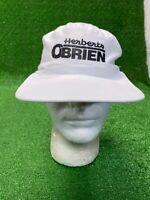 Vintage Herberts O'Brien White Black Snapback Hat Cap