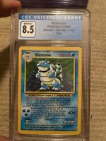CGC 8.5 Blastoise Base Set Unlimited 2/102 Holo Pokemon 1999 Vintage