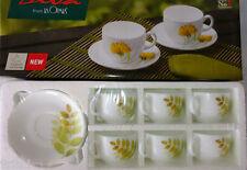 La Opala 12 Pcs Regular Tea Cup & Saucers Set Mug, Coffee Cup Ivory Laopala DIVA