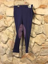 New TuffRider Child Pull On Jodhpurs Purple size 10