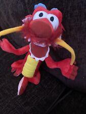 """Mushu Dragon Mulan Disney soft plush toy vintage 16"""" Disneyland Resort"""