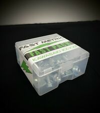 Fast Metric FAST-PACK bolt kit with container for Kawasaki dirtbikes
