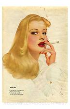 Pin Up Girl Poster 11x17 Vargas Girl Varga Smoking January 40's art Blonde