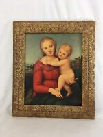 "Antique 22 1/2""x26 1/2"" Carved Wood Gold Victorian Baroque Art Picture Frame"