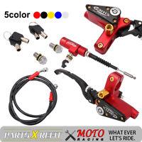 "7/8"" Brake Pump Levers Hydraulic Clutch Master Cylinder Reservoir Locks Set Moto"