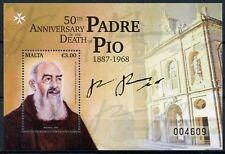 Malta 2018 MNH Saint Padre Pio 1v M/S Saints Religions Famous People Stamps