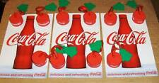 10 COCA COLA BOTTLE TOPPERS~3 STICKERS~TURN A BOTTLE INTO A TREE ORNAMENT !!