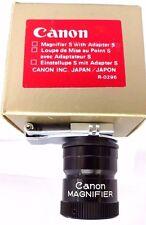 CANON Lente D'ingrandimento S con adattatore S. Canon scatola e foglio di istruzioni.