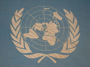 Vintage 1950s Official United Nations Stitched Flag - UN - Australian - Rare
