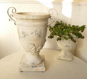 Rustikaler Harztopf Keramik zum Bepflanzen als Kerzenschale etc.