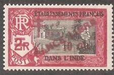 French India 1943,France Libre ,10ca on 2r,Scott # 202,VF MLH*OG (FC-4)