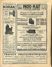 Réclame Pub Appareil Photo Kodak Dragées Somedo Thermo-Block Ricqlès 1916 WWI