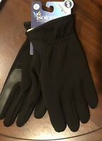 Isotoner Smart Touch Screen Technology Tech Gloves, Men's Black XL