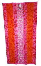 floral rose vif rouge orange Jumbo Serviette grand drap de bain 100% coton