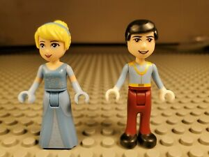 Lego Minifigure Friends Disney Princess Cinderella & Prince Charming 41055 #108