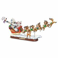 Rudolph & Freinds Musical Lighted Statue Christmas Sculpture Holiday Decor New