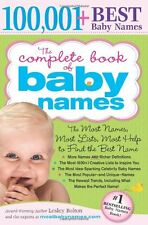 The Complete Book of Baby Names,Lesley Bolton
