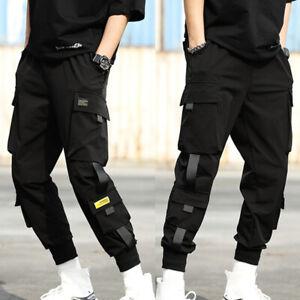 Men Street Harem Pants Hip Hop Cargo Pants Joggers Harajuku Elastic Feet Fashion