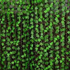 2.4M Plastic Garland Vine Artificial Ivy Leaf Fake Foliage Green Plant Decor New