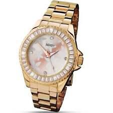 Seksy Rose by Sekonda Floral Dial Gold Bracelet Ladies Watch 4655