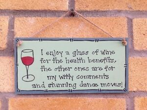 Wine Sign Plaque-Handmade-Personalised-Funny Quote-Gift