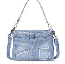 retro womens denim jeans bag shoulder Bags denim handbag messenger bag