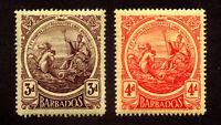 Barbados - SG# 186 & 187 MH    -       Lot 0520714