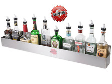 42 Stainless Steel Single Tier Commercial Bar Speed Rail Liquor Display Rack