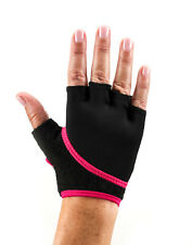 Toesox Grip Gloves Half Finger Design Yoga Pilates & Multiple Fuchsia