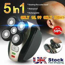 5 in1 4D Waterproof Cordless Trimmer Recharge Electric Razor Shaver Bald Head UK