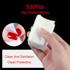 500Pcs/Bag Lint-Free White Nail Cotton Wipes Cleaning Nail Art Soft Wipes Tools