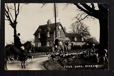 Berkswell, Four Oaks Hunt Meeting - between Solihull & Coventry - RP  postcard