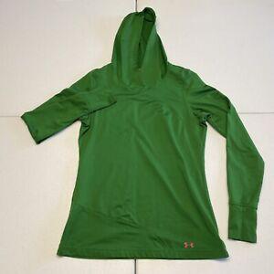 Under Armour | Women's | Medium | Green | Fitted Hoodie Hooded Sweatshirt