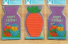 Easter Treat Bags W/ Ties Chick Eggs Carrot Party Favors Cello 3 Pkgs 45 Total