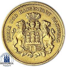 Jäger 208 Kaiserreich Hamburg 5 Mark Gold 1877 Goldmünze (ss) - Stadtwappen
