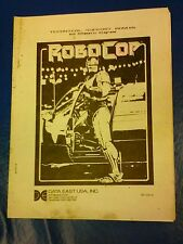 Data East Robocop Arcade Video Game special technical Manual- used copy 40 pages