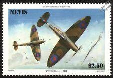 RAF Supermarine SPITFIRE Mk.IA Aircraft Stamp (1986 Nevis)