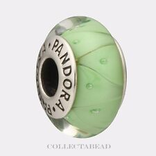 Authentic Pandora Sterling Silver Murano Green Looking Glass Bead 790925