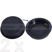 2x New Type Rear Lens Cap Cover Protector for Canon EF EF-S Mount Lens –ABS+PC