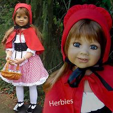 Masterpiece Dolls  Little Red Riding Hood,Monika Levenig Brown Eyes, Lt Brown