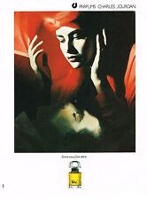 PUBLICITE  1985    CHARLES JOURDAN  parfum VOTRE