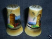 Vintage Japan Porcelain Wind Mill Salt Pepper Shakers