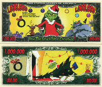 How the Grinch Stole Christmas 1 Million Dollars Color Novelty Money Fun Item