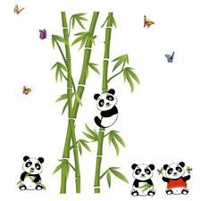 Home Decor Mural Vinyl Wall Sticker Removable Cute Panda Eating Bamboo Nurs O6O1