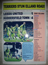 Leeds United 1 Huddersfield Town 4 - 2016 - souvenir print