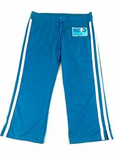 HOLLISTER WOMENS BLUE POLYESTER ATHLETIC CAPRIS PANTS SIZE M
