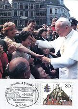 MK Maximumkarte Bund 1987 Papst Johannes Paul II in Essen Nr : 1320 MK_140