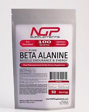 BETA ALANINE Powder - 100g (3.5oz)  -Recovery- Muscle Endurance -Strength -NGP