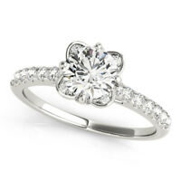 0.80 Ct Natural Diamond Engagement Ring Certified 950 Platinum Band Size 5 6 7 8
